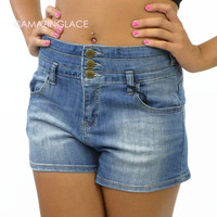 Jitterbug High Rise Denim Shorts