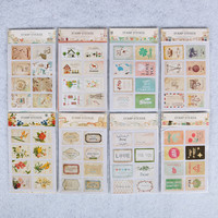 16 Pcs bag Cute Animal Flag Post Stamp Stickers Mini Sticky Note Paper Scrapbooking Pads Stamp Sticker Stationery Sticker