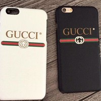 GUCCI Classic Popular Letter Print Mobile Phone Cover Case For iphone 6 6s 6plus 6s-plus 7 7plus 8 8plus X XsMax XR I/A