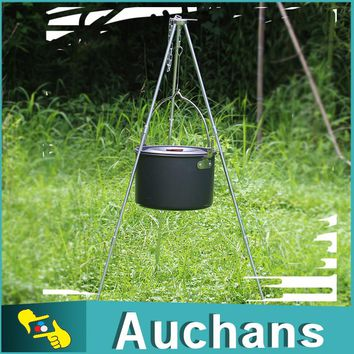 Outdoor Picnic Cooking Tripod Portable Hanging Pot Camping Tripod Campfire Grill Stand with Storage Bag