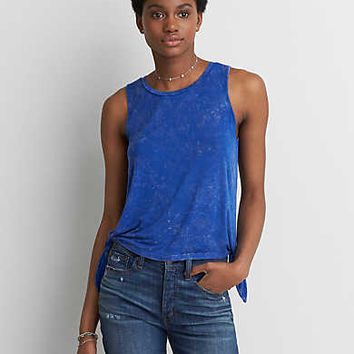 AEO Soft & Sexy Side Tie Tank , Blue