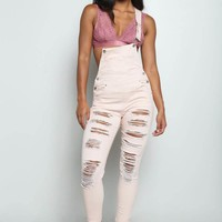 #Remix Distressed Overall Black