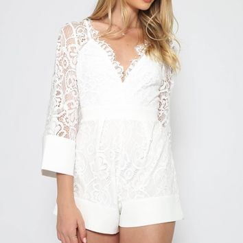 Patience Playsuit - White