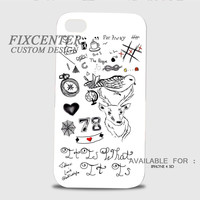 Tattoo Collage One Direction 3D Cases for iPhone 4,4S, iPhone 5,5S, iPhone 5C, iPhone 6, iPhone 6 Plus, iPod 4, iPod 5, Samsung Galaxy Note 4, Galaxy S3, Galaxy S4, Galaxy S5, BlackBerry Z10 phone case design