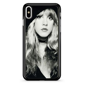 Stevie Nicks Black And White iPhone X Case