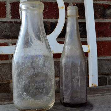 Milk Bottle and Soda Bottle 1930-40's
