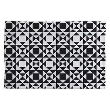 Heather Dutton Rhythm Black Woven Rug
