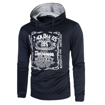 HD-DST 2016 autumn and winter new men's hoodies fashion casual slim fit cotton printing hooded plus size