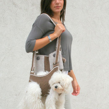 Pet Carrier Crochet Dog Carrier Dog From Bubadog On Etsy