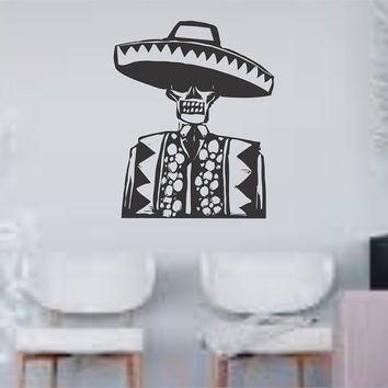 Day of the Dead Man Wall Vinyl Decal Sticker