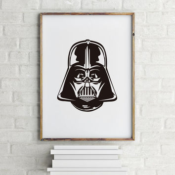 Darth Vader Poster Star Wars Poster  Star Wars Poster, Sci-fi Movie Theater Decor, Stormtrooper 3D Glasses Storm Trooper Printable quote