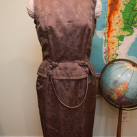 Vintage 60s Asian Inspired Two-Piece Dress // Size 6 - 8