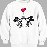 Happy Valentines Day Disney mickey minnie mouse Sweater for Mens Sweater and Womens Sweater *