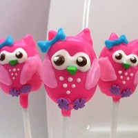 Pink Owl Cake Pop by EntirelySweet on Etsy