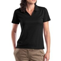 Amazon.com: Sport-Tek Ladies Short Sleeve 100% Polyester Moisture Wicking Polo V Neck Sport Shirt: Clothing