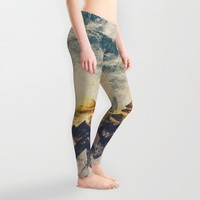 One mountain at a time Leggings by HappyMelvin