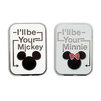 Mickey and Minnie Mouse Icon Pin Set | Disney Store