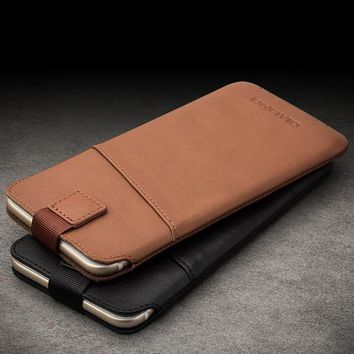Qialino New Arrival For Iphone 6 6s 4.7 Case New Case Pouch For Iphone 6 Plus 6s Plus 5.5' Leather With Card Slot Luxury Case