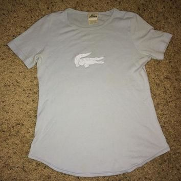Vintage women's LACOSTE T-shirt casual tee