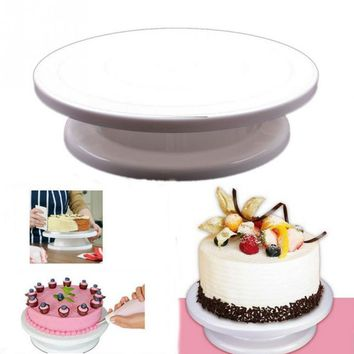 Cupcake Stand Turntable Plate Rotating Sugar Cake Holder Tools