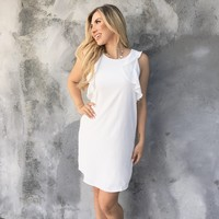 Windy City Satin Ivory Dress