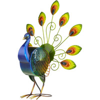 Peacock Large Figurine Table Fan