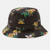 Obey Sativa Flora Bucket Hat - Black at Urban Industry