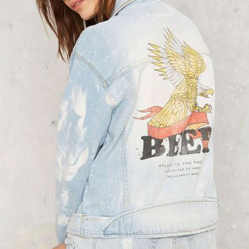 The Laundry Room Beer Banner Denim Jacket