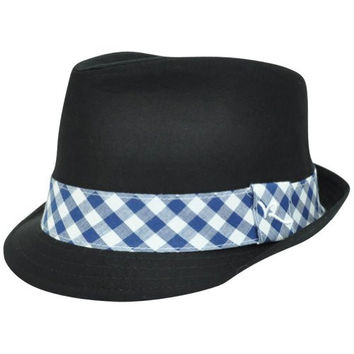 Rocawear Plaid Band Diamond Top Stetson Gangster Trilby Fedora One Size Hat