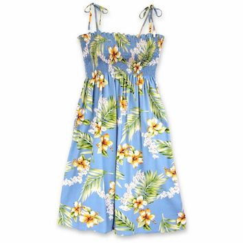 Atoll Blue Moonkiss Hawaiian Dress