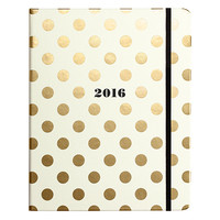 2016 Kate Spade New York® Large Gold Dots 17-Month Planner