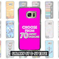 SALE Great Samsung Galaxy S7 & Samsung Galaxy S7 Edge Phone Case Choose from 70 Designs Beauty and the Beast Little Mermaid Peter Pan + Mor