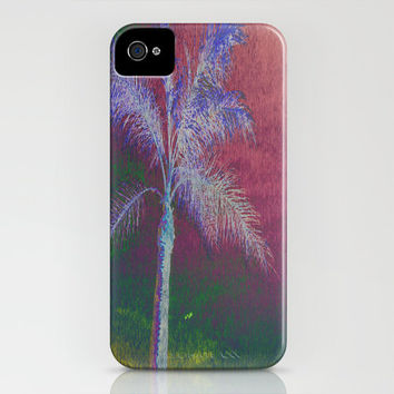 Artsy iPhone Case - apple cell phone accessory plastic nature abstract hipster print florida palm tree purple art