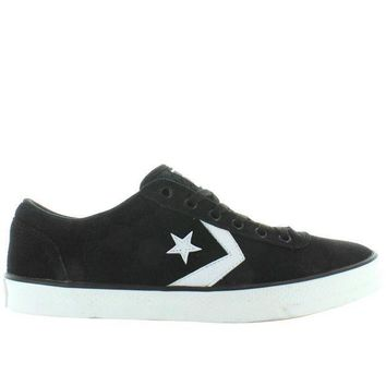 CREYUG7 Converse All-Star Wells Ox - Black/White Canvas Lace Sneaker