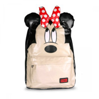 Loungefly – Disney Big Head Minnie Backpack In Beige/Multi | Thirteen Vintage
