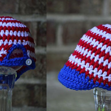Baseball Cap ,Baseball Hat ,Crochet Baby Hat ,Baby boy hat , 0 ,3 , 6, 12 months custom team colors