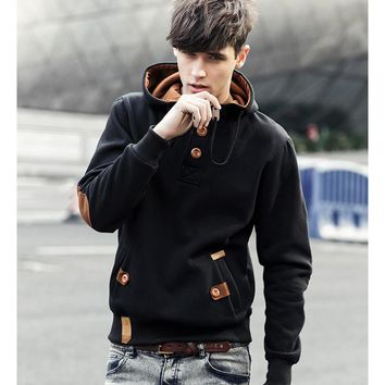 Men Fleece Fashion Hip Hop Warm Hoody Polo Mens Hoody Jacket
