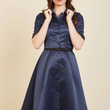 Respectfully Retro Midi Dress in Navy | Mod Retro Vintage Dresses | ModCloth.com