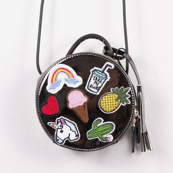 Embroidered Cirq Purse