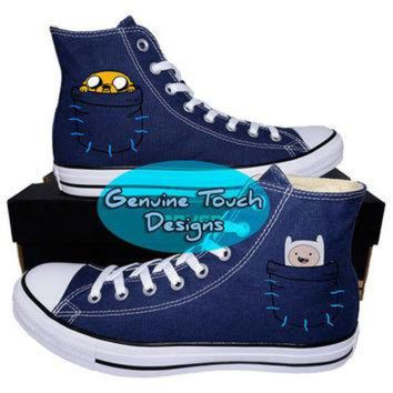 VONR3I Hand Painted, Adventure Time, Fanart shoes, Custom converse, Birthday Gifts, Christmas