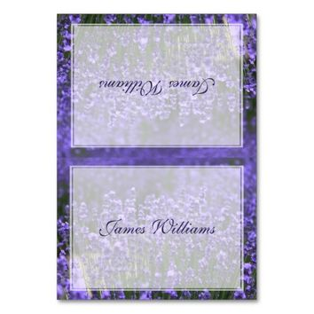Custom Lavender Wedding Place Cards Table Cards