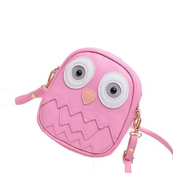 2017 Fashion Women Bag Owl Women Messenger Bags Female Crossbody Shoulder Bag Cartoon Children Girls Bag Wallet bolsa feminina