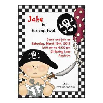 Pirate Baby Birthday Party Invitation from Zazzle.com