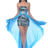 Sequin Cocktail Dresses, Sequin Mini Dress, Strapless Formal Cocktail Dresses from Sung Boutique Los Angeles, Category Prom Dresses
