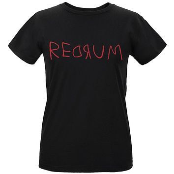 Halloween Horror Redrum Womens Organic T Shirt