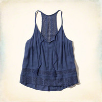 Lace Peasant Tank