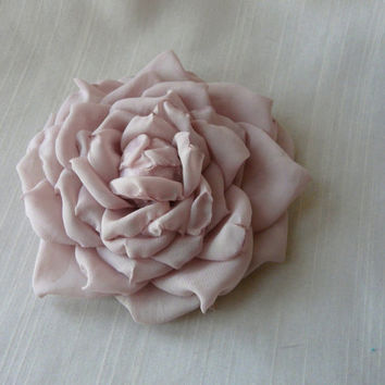 Wedding Bridal Hair Flower, Romantic Hair Rose, Cabbage Rose Hair Accessory, Bridal Floral Headpiece, Real Touch Hair Flower