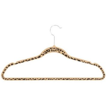 Honey-Can-Do Velvet Touch Hanger, Cheetah, 20pk