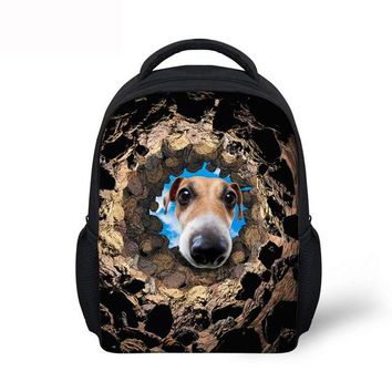 Boys bookbag trendy Noisydesigns cute stone School Bags Print dog cat beauty Schoolbag for Primary Boys girls High College Student s AT_51_3