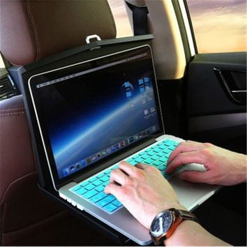 Car Vehicle Computer Desk And Chair Back Folding Table Plate Upscale Car Interior Business Gifts Practical Gadgets Accessories